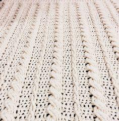Cabled Wedding Blanket By Katie Lynn Smith - Free Crochet Pattern - (kozythreads.blogspot)