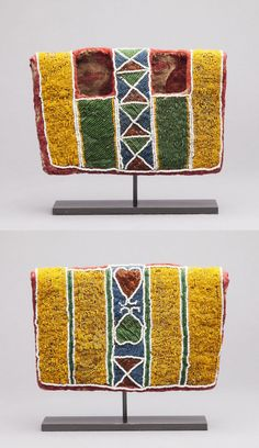 Africa | Beaded coat from an Ibeji figure from the Yoruba people of Nigeria | Textile and glass beads | 1st half of the 20th century
