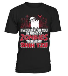 My Shih Tzu and Zombies Halloween Funny Gifts T-shirt  Funny Shih Tzu T-shirt, Best Shih Tzu T-shirt