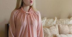 Pink Zip-Up Night Robe | Vintage 1960s | Upon A Find