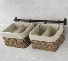 Hannah Wall Basket Small Storage System with 1 Basket traditional-baskets