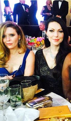 Laura Prepon and Natasha Lyonne at Golden Globes