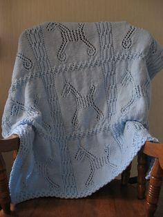 Knitting Patterns Galore - Hobby Horse Baby Blanket