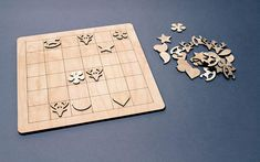 Wooden SUDOKU game for childrens. - Dimension 28cm x 28cm (11 Inch x 11 Inch) - Tickness 6mm - 36 pieces with ( star, heart, bird, horse, deer, flower silhouette) - Eco friendly, not painted.