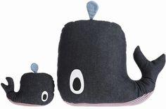 'Whale Cushion by Ferm Living. @2Modern'