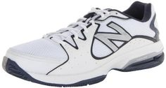 New Balance Men's MC786 Tennis Shoe,White/Navy,11 4E US