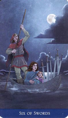 6 of Swords, from Llewellyn's Classic Tarot. http://www.life-plan-blog.com/2014/09/20/navigating-lifes-transitions/
