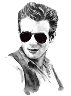 Artist Berto Martinez created icon portraits for the Ran-Ban special edition of H Magazine. Create Icon, James Dean Photos, Discount Sunglasses, Actor James, Cultura Pop, Cartoon Characters, Famous People, Ray Bans, Illustration Art