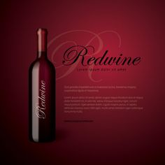 Redwine Bottle Icon Set