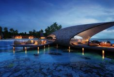The St. Regis Maldives Vommuli Resort - Sunset Bar - Rendering