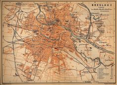 Map of Breslau, Silesia before WW2