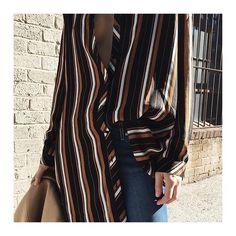 @thefashionsight does a little layering in our Black & Tan Stripe Shirt Dress #fashion #style #stripe #print #pattern #fashioninspiration #fashioninspo #styleinspiration #styleinspo #OOTD #fblogger #fbloggers #glamorous #ukglamorous