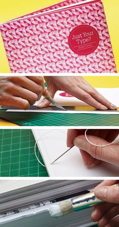 Book binding tutorial - click for the tutorial // DOS CARRÉ COLLÉ // EDITION // ROSE // ROUGE // LIVRE //