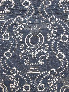 indigo kimono fabric