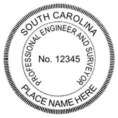 The #South #Carolina #Engineer seal is typically 1-5/8. There are several set ups including this #dual #seal for this state. We also make firm seals and #COA #seals.