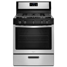 Whirlpool 5.1 cu. ft. Gas Range in Stainless Steel-WFG505M0BS at The Home Depot $598