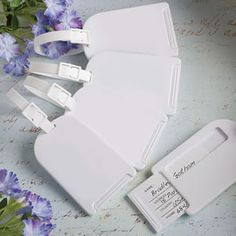 <em>Perfectly Plain Collection</em> Luggage Tag Favors