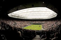 Wimbledon Retractable Roof, Centre Court: London Tennis - e-architect Wimbledon Tennis, Wimbledon 2012, London Tennis, Building Images, Tennis Clubs, Roof Design, World Of Sports, Architecture, Wallpapers