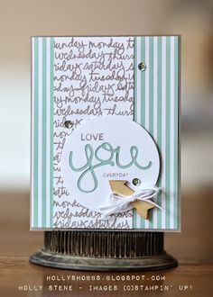 Who says Project Life stamp sets can't be used on darling cards?!  This darling project features Moments Like These.