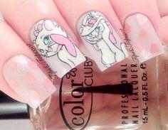 hearts shimmer pink disney aristocats nails