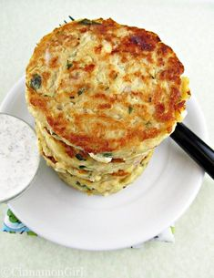 Hunks of feta cheese and fresh herbs liven up these fritters!