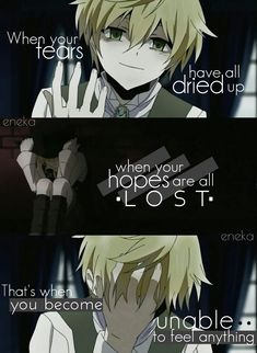 Directions for living hell Sad Anime Quotes, Manga Quotes, Anime Quotes About Love, Broken Quotes, Dark Quotes, Kaichou Wa Maid Sama, Depression Quotes, True Quotes, Evil Quotes