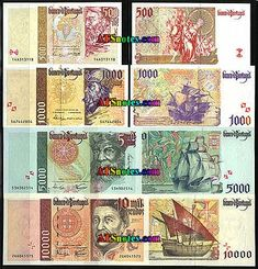 portugal currency | Portugal banknotes - Portugal paper money catalog and Portuguese ...