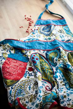 www.mymaryandmartha.com/bfithen  Paisley Apron | $46. Perfect Bridal Shower gift! Every Bride needs a fun apron!