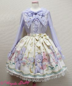 Lolibrary | Angelic Pretty - Skirt - Charlotte's Bear Skirt