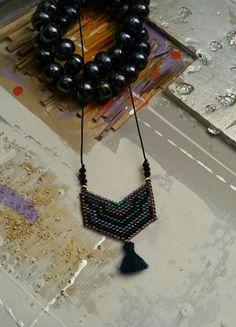 κολιέ με γνήσιες χάντρες miyuki  miyuki necklace