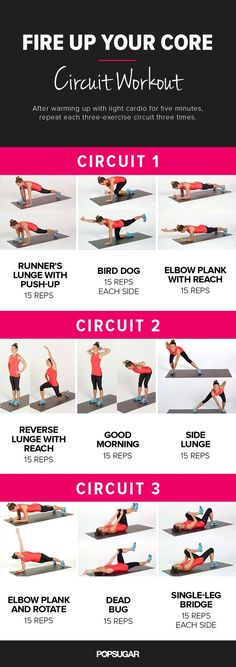 Printable No-Equipment At-Home Workouts - Core Circuit