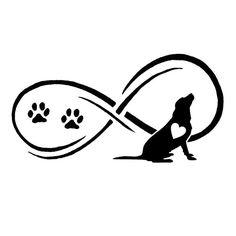 Infinity Labrador Retriever Car Sticker – The Top Dog Deals Labrador Silhouette, Dog Silhouette, Dog Tattoos, Small Tattoos, Tatoos, Dog Clip Art, Dog Memorial Tattoos, Tattoo Und Piercing, Dog Logo