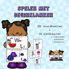 spelen met beginklanken – katrotje Spelling, Teaching, Comics, School, Kunst, Education, Cartoons, Comic, Comics And Cartoons