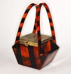 lucite-faux-tortoise-purse-handbag-vintage-1950-retro-original