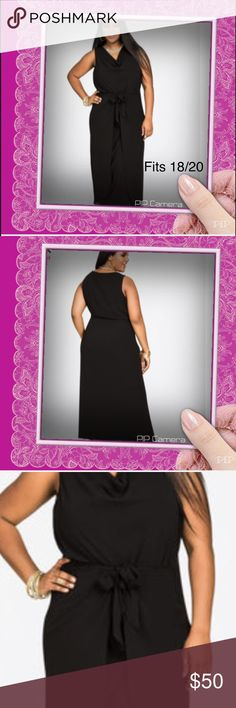 """ASHLEY STEWART Knot Waist Sleeveless Maxi Dress Can you say divine? This knot waist plus size maxi dress is runway ready in chic chiffon. Style with statement jewels and my wide width strappy sandals.   Sleeveless. Self tie knot waist. Chiffon. Fully lined. Plus size 18/20 measures 58"""" in length. 96% polyester 4% spandex. Machine wash cold. No bleach. Dry flat. Cool iron if needed. Imported. Ashley Stewart Dresses Maxi"""