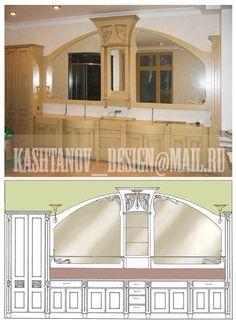 Art Nouveau kitchen by Kashtanov_design@mail.ru