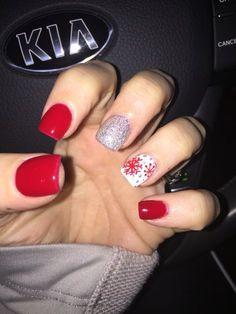 December nails #andysnails winter nails - amzn.to/2iZnRSz Luxury Beauty - winter nails - http://amzn.to/2lfafj4