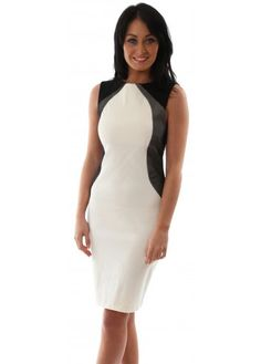 Vesper Ivory Bodycon Contour Mesh Crystal Dress