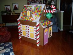 Enlarge A ChirstmasTree Gingerbread House Decoration To Make A Gingerbread Playhouse