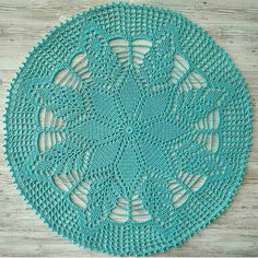 Filet Crochet, Mandala Au Crochet, Crochet Lace Edging, Crochet Circles, Crochet Motifs, Crochet Borders, Crochet Placemat Patterns, Crochet Table Runner Pattern, Crochet Flower Patterns