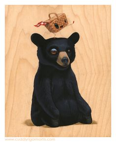 """Pik n' Nik  8"""" x 10"""" x .75"""" original acrylic on maple -- SOLD  For my solo at Gallery 1988 (East) - I'm Not Hungry Feb 28th through March 22nd  Signed and numbered limited edition of 20 prints still available through Gallery 1988."""