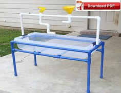 Sensory Table pvc pipe plan / DIY Water Table PDF plan / pvc kids outdoor play station-collapsable plan/ sand play table plan/summer fun PDF - The Best Outdoor Play Area Ideas Kids Water Table, Sand And Water Table, Sand Table, Diy Outdoor Toys, Kids Outdoor Play, Outdoor Games, Backyard Games, Backyard Ideas, Kids Outdoor Furniture