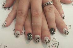 Acrylics with dotty nail art