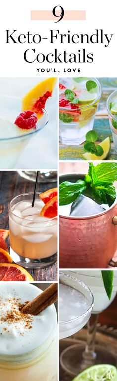 9 Keto-Friendly Cocktails That Are Totally on Your Diet #purewow #cocktail #ketogenic #drink #food