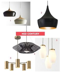 Shopping by Style:Guides to Romantic, Mid-Century, Natural & Industrial Pendant Lights
