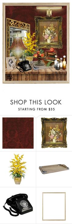 """Vignette Du Jour"" by fowlerteetee ❤ liked on Polyvore featuring interior, interiors, interior design, home, home decor, interior decorating, Andrew Martin, H&M and Rifle Paper Co"