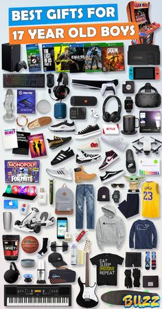 See 100+ teen boy gifts for 17 year old boys. Discover COOL and unique gifts for Birthdays, Christmas, and other occasions for your 17 year old teen boy. #birthdaygifts #christmasgifts Best Gifts For Boys, Cool Gifts For Teens, Birthday Gifts For Boys, Teen Birthday, Birthday Gifts For Boyfriend, Boyfriend Gifts, Birthday Bash, Birthday Presents, Teen Boy Christmas Gifts