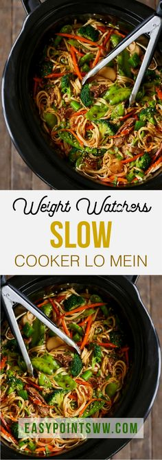 ideas weight watchers meals dinner healthy for 2019 Healthy Recipes, Skinny Recipes, Ww Recipes, Slow Cooker Recipes, Asian Recipes, Cooking Recipes, Crockpot Meals, Healthy Lo Mein Recipe, Gastronomia