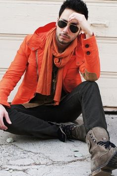 Not crazy about the orange, but the jacket style/jeans/boots works for me!