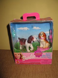Barbie Golden Retriever Pups Bobbin' Bow-wows 2001 Mini Dog Figures Mattel for sale online Barbie Cat, Barbie Puppy, Barbie 2000, Mattel Barbie, Spaniel Dog, Springer Spaniel, Vintage Barbie, Vintage Toys, American Girl Doll Pets